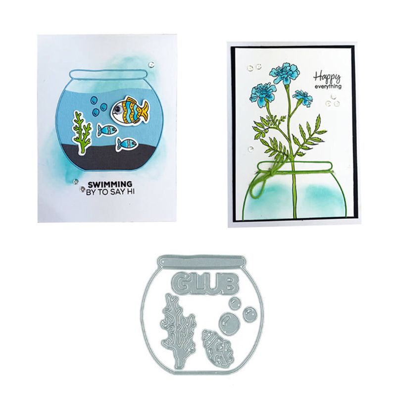 Fish Bowl DIY Metal Cutting Dies Stencil Scrapbooking Photo Album Stamp Paper Card Crafts Decro