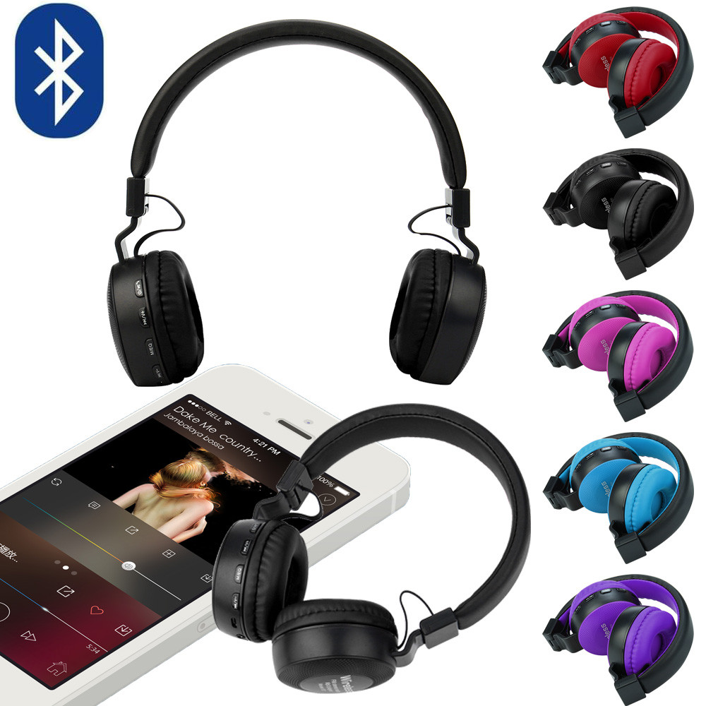 Rechargeable Wireless Bluetooth Foldable Over Ear Headphones Headset With Mic Fashion 17Sept27 sony mdrzx310ap over head headphones with mic
