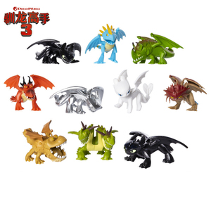 Image 1 - 3.5 inch How to Train Your Dragon 3 Toothless Lightfury Action figure Night  Fury Toothless Anime Figure Kids Toys For Children