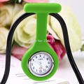 1Pc Watch Mini Silicone Gel Doctor Nurses Brooch Pin Pocket Fob Tunic Watch Multiple Colors Portable relogio de bolso Newest