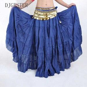 Image 2 - DJGRSTER Hohe qualität Frauen Bauch Tanzen Röcke Günstige Bauchtanz Kostüm Gypsy Röcke 13 Farben Erhältlich Ausbildung Kleid