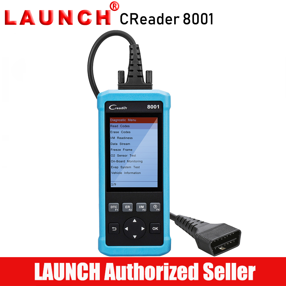 Launch Creader 8001 Code Reader CR8001 Scanner Full OBDII EOBD Functions Diagnostic Tool ABS SRS EPB Oil Service Light Resets obd2 scanner launch creader 8001 car code reader full obdii eobd auto diagnostic scanner tool with abs srs epb oil service