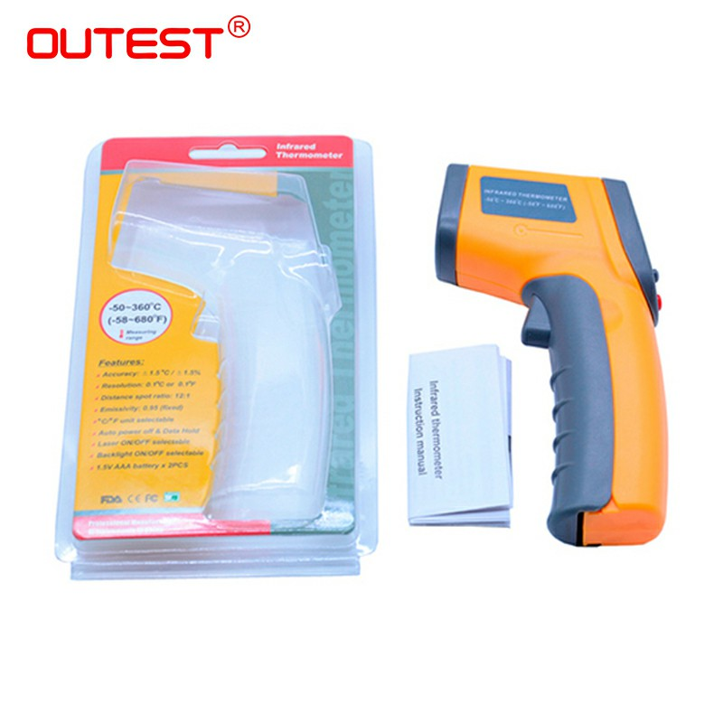 Image 5 - Digital Laser infrared thermometer Non contact IR thermometer 
