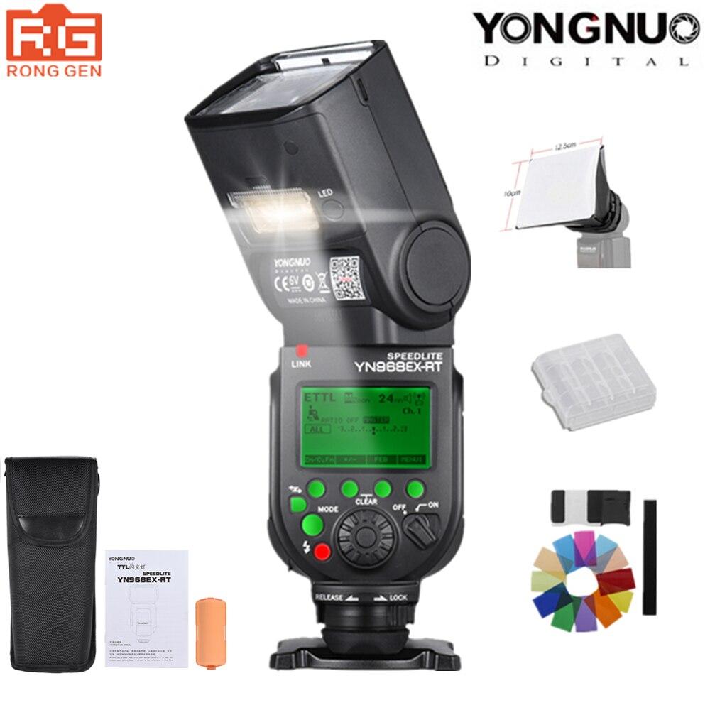 YONGNUO YN968EX-RT Flash Speedlite Haute-vitesse Sync TTL Sans Fil avec LED Lumière pour Canon 5 DIII 6D 7DII 60D 1100D 1200D 1000D700D