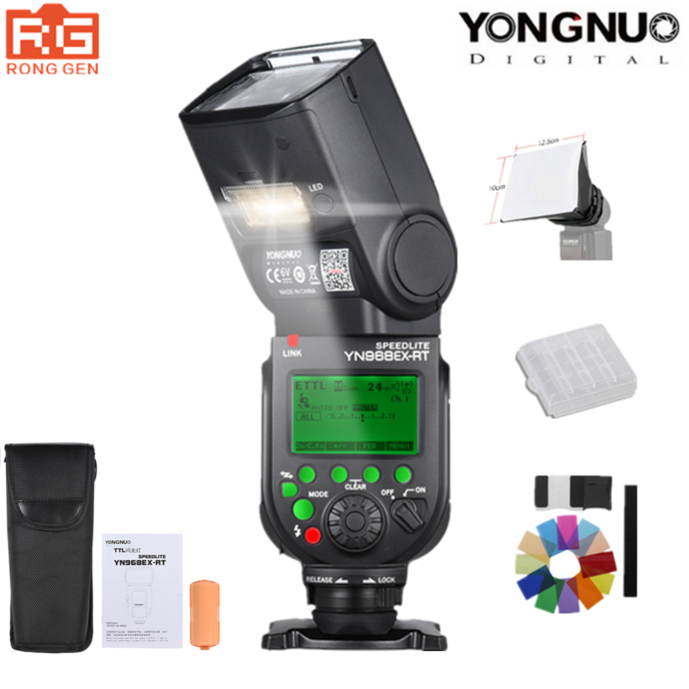 YONGNUO Flash Speedlite YN968EX-RT Alta-velocidade de Sincronização TTL Sem Fio com Luz LED para Canon 5 DIII 7DII 6D 60D 1100D 1200D 1000D700D