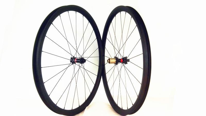 1280g 29er MTB wheels Ultralight Straight pull 411/412 hubs thru axle 100X15 142X12 sapim cx ray 34mm width UD matte tubeless