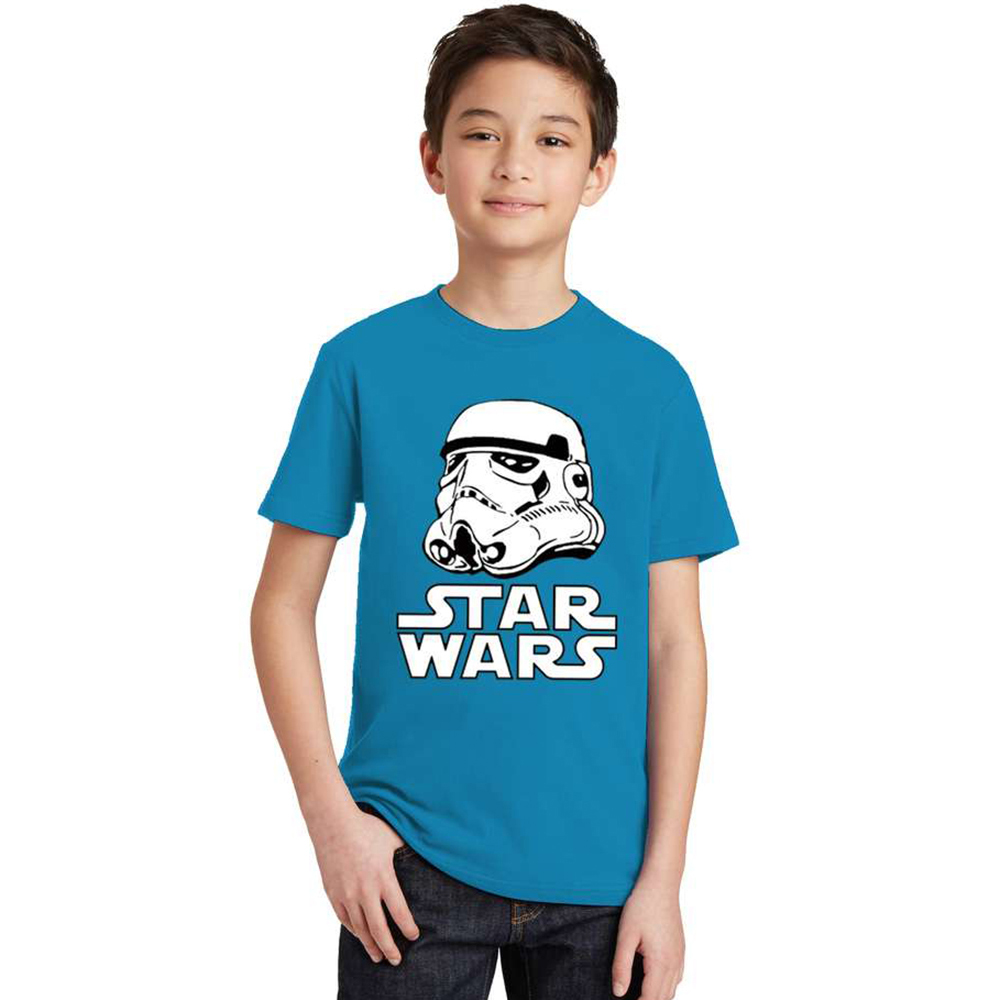 2017 movies Star Wars children boys t shirt kids Star Wars Printed shirt kids clothes boys t-shirt top children clothing enfant red see through lace details star round neck t shirt