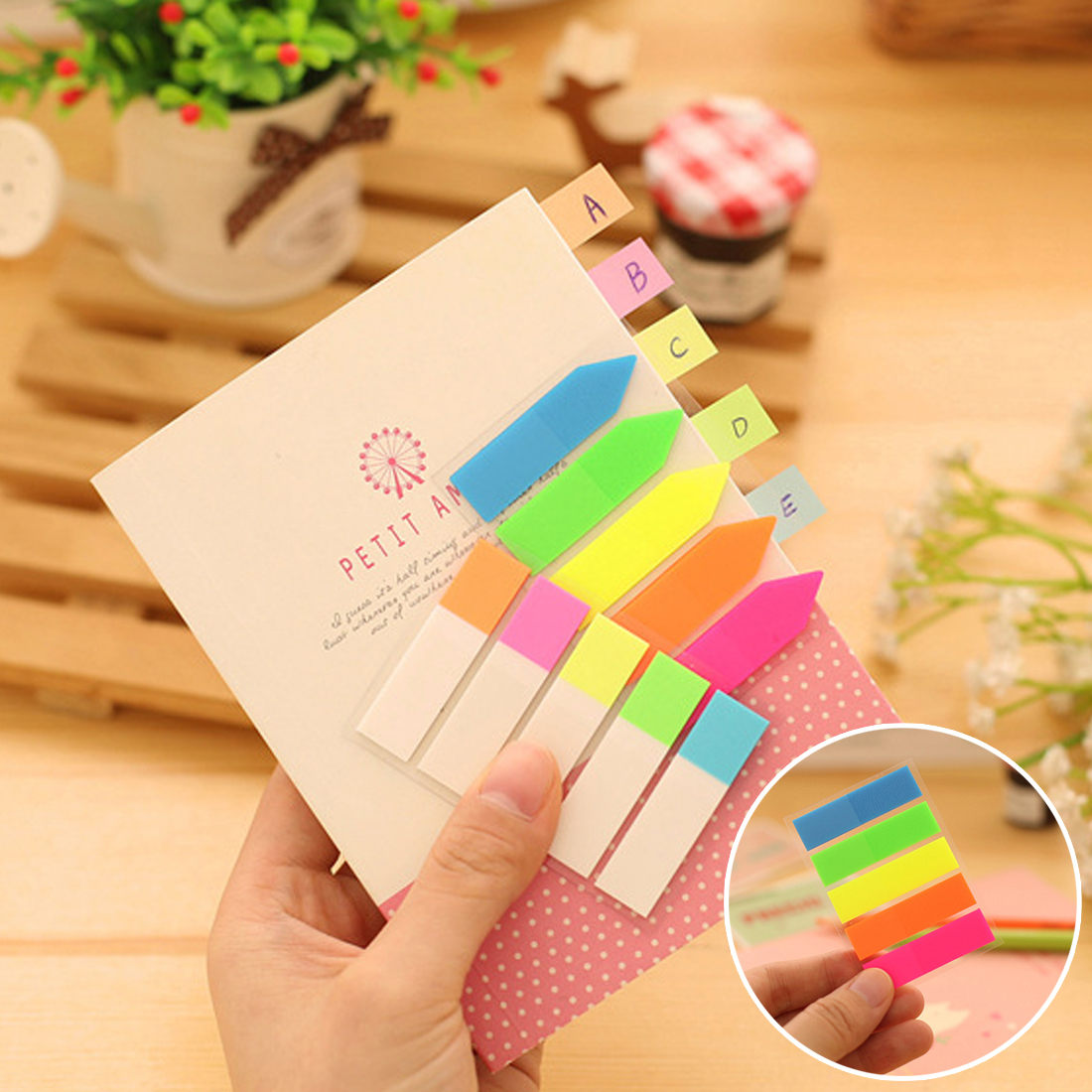 FangNymph Creative Cute Kawaii Colorful Pet Memo Pad Sticky Paper Fluorescent Post It Note For Kids School Supplies