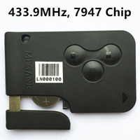 Uncut 3 Buttons Remote Car Key Fob 433MHz PCF7947 Chip For Renault Megane Auto Replacement Ke