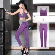2 Piece/Set Sport Suit Women Yoga Sets Tracksuit Fitness Slim Sportswear Workout Gym Wear Dance Running Clothes Plus Size XXL цена и фото