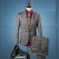 (ジャケット+ベスト+パンツ) 3ピース最新コートパンツデザインショールラペル新郎タキシードウェディング最高の男ブレザーシングルブレスト男性スーツ