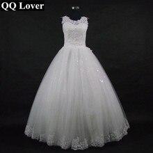 QQ Kekasih 2018 Baru Lace Backless Ball Gown Wedding Dress Bridal Wedding Gown