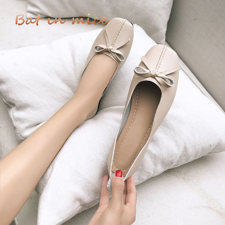 Hot brand women shoes Soft cozy casual mother flats shoes PU leather bow-knot style 2018 summer shoes women ladies Zapatos S087 cresfimix zapatos women cute flat shoes lady spring and summer pu leather flats female casual soft comfortable slip on shoes
