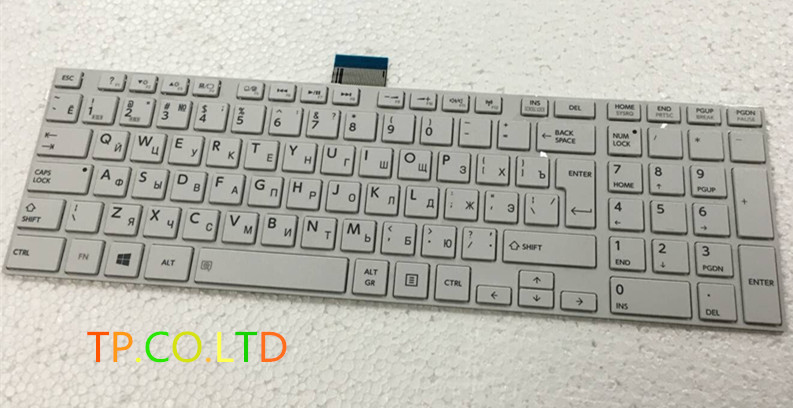 New Russian Keyboard for Toshiba satellite L850 L850D P850 L855 L855D L870 L870D C850 C855 C855D S950 S955 RU Keyboard white image