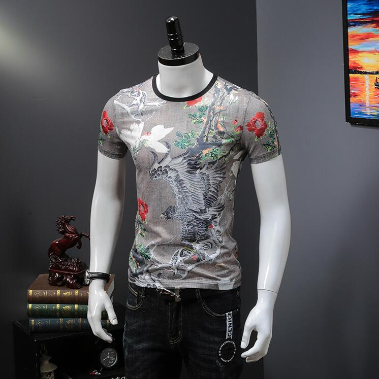 Good quality Hot Fashion Men T shirt clothes Summer Tops Tees