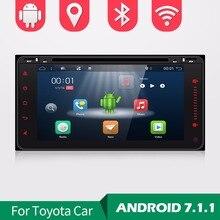 Android 7 1 car dvd player for Toyota Hilux VIOS Old Camry Prado RAV4 Prado 2003