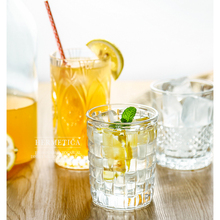 Water Glass Tea Cup 6 pcs Transparent Drinking Cups 300ml 400ml Engraving Thickened Heat-resisting Milk Glasses for Drink