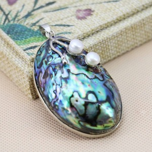 36*57mm Hot sale Prevalent abalone Natural Abalone seashells sea shells pendants making jewelry crafts Women girls gifts DIY