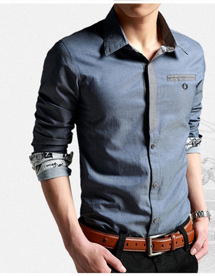 Korean Clothes Men Shirt Long Sleeve Streetwear Beach Summer Shirt Casual Slim Fit High Quality Hawaiian Mens Dress Male Shirts 13