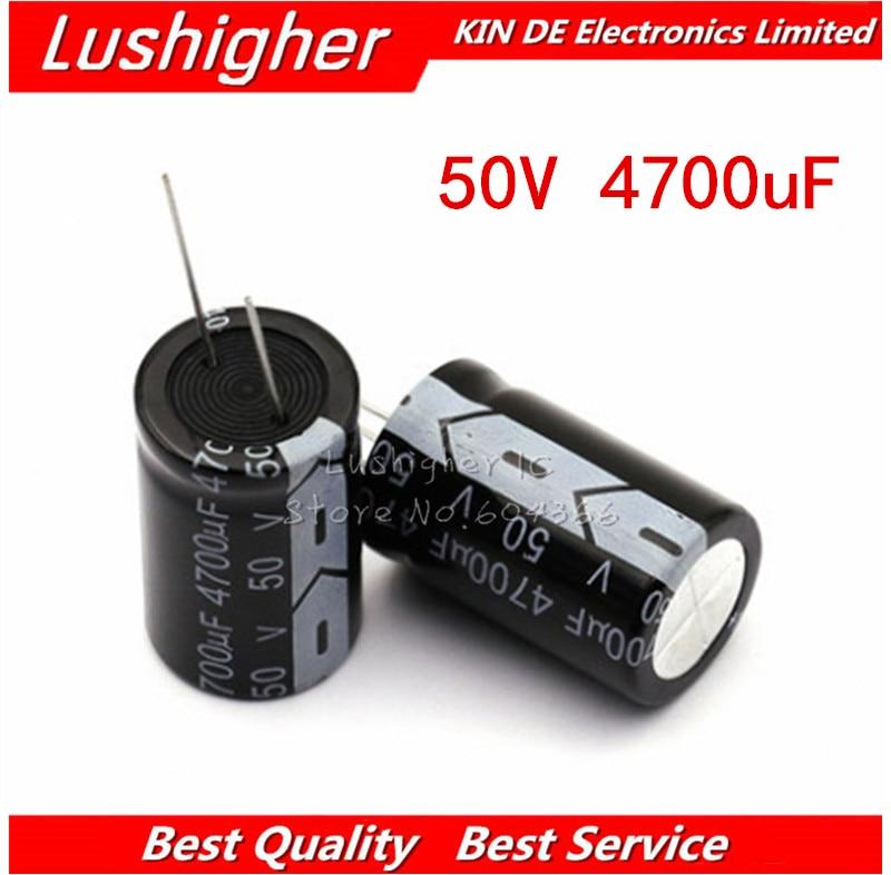 2PCS 50V4700UF 18*35mm 4700UF 50V 18x35 Mm Aluminum Electrolytic Capacitor DIP