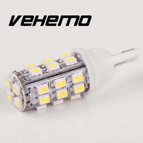 Vehemo New Xenon White Car Side Wedge 12V T10 194 168 W5W 360 degree angle 28 3020 W5W SMD Bulb Lamp high quanlity new 2x xenon white led error free canbus 6smd side wedge light bulb t10 194 168 w5w