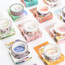 Diary Decoration And Paper Decorative Mask Masking Tape, Self-Adhesive Stickers, Japanese Stationery, Office Supplies 15mm * 7M