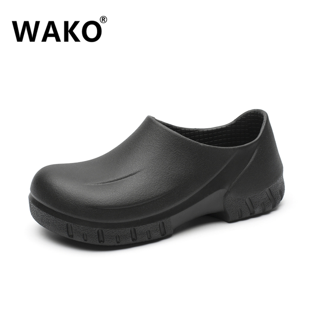 shoes for work in the kitchen renew cabinets wako 2018 new men s chef working casual flat shoe super anti slip cook male 39 44