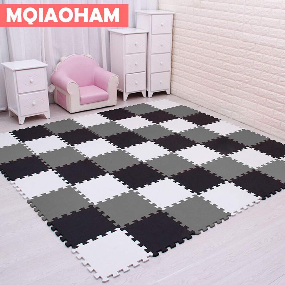 MQIAOHAM baby EVA Foam Play Puzzle Mat for kids/ Interlocking Exercise Tiles Floor Carpet Rug,Each 30X30cm,9 or 18/set 1cm thick