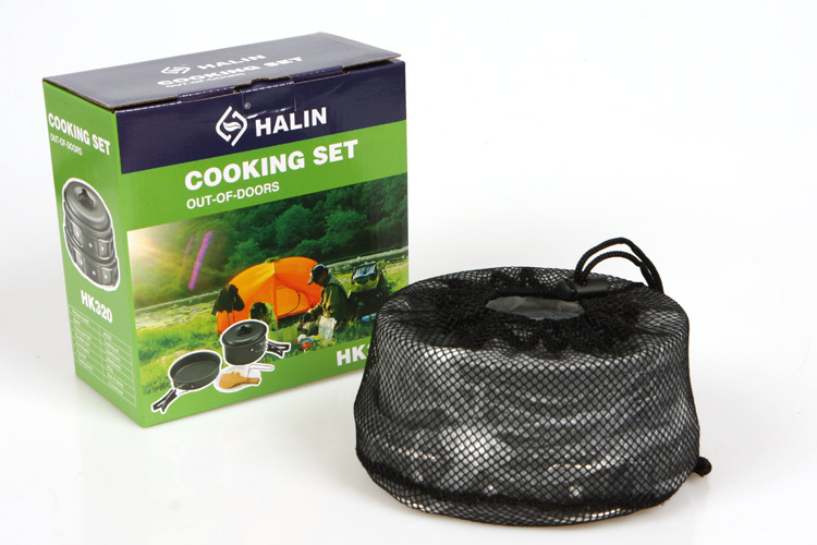 VILEAD Portable Outdoor Cookware Sets Camping Picknick Servies Pan - Kamperen en wandelen - Foto 3