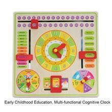 Часы подвесная доска мультифункциональная тренировка часы календарь доска Раннее детство образование родитель-ребенок игрушка