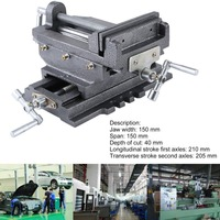 Compact Bench Clamp 2 Axles Cross Working Table Vice For Drilling Milling Machine Professional 6 Inch Bench Vise 2018 NEW