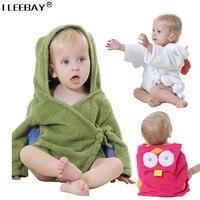Mùa xuân mới bé đội mũ trùm đầu towel mô hình động vật toddler bông phim hoạt hình áo tắm kids bath robe trẻ sơ sinh dễ thương động vật áo choàng tắm 0-24 m