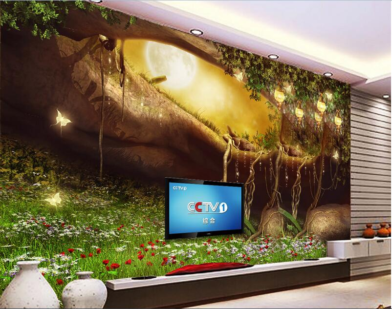 3d room wallpaper custom mural non-woven  wall sticker 3 d Cartoon flowers grass forest painting photo wallpaper for walls 3d micro usb male to usb 2 0 male data sync charging cable for cellphone black 300cm
