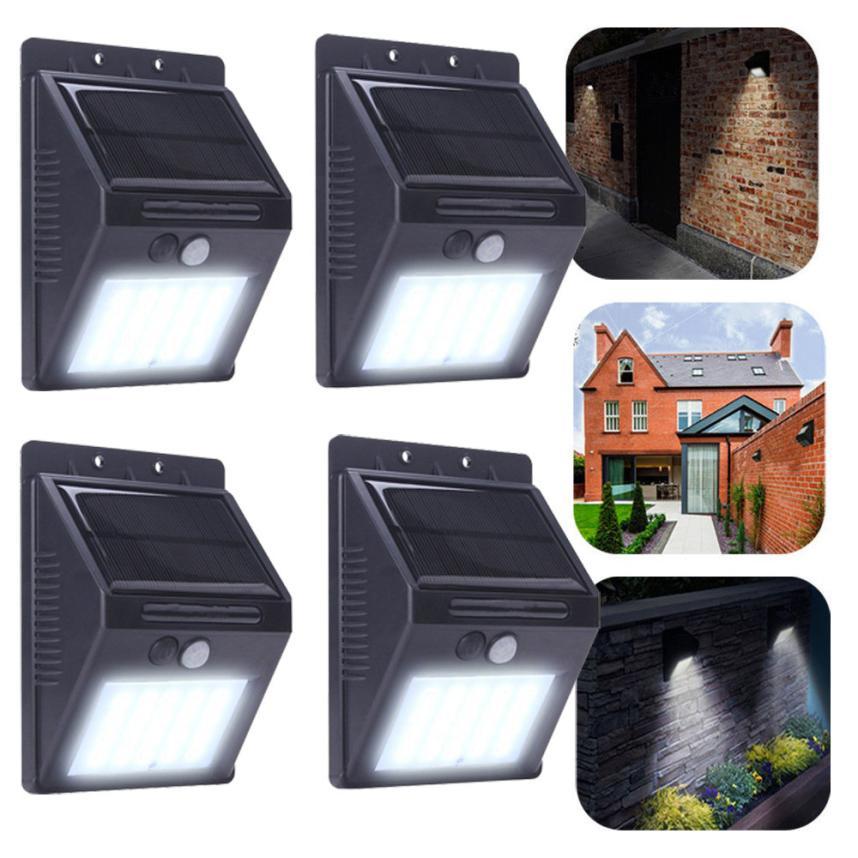 2017  20 LED Solar Power PIR Motion Sensor Wall Light Outdoor Garden Waterproof Lamp 61 ds 360 solar sensor led light black
