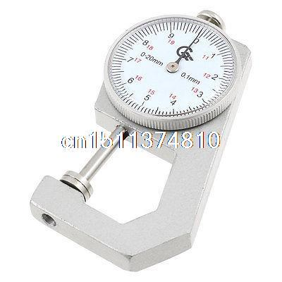 0 to 20mm x 0.1mm Flat Head Dial Thickness Gauge Measuring Tool w Plastic Box hole measuring 10 54mm x 50mm pin gage gauge w plastic cylindrical box