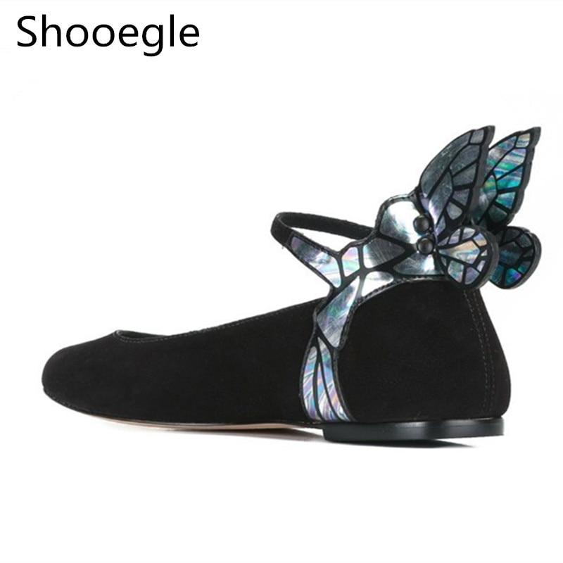Boucle Daim Arrivée 1 Femmes Pic Noir Casual Chaussures Nouvelle Femme Papillon Aile Sangle as 2 3 Mocassins En As Confortable Plat as B0Fwqdt