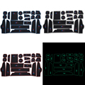 For BMW X3 2011 To 2014 Gate Slot Pad Interior Door Groove Mat Anti-Slip Cushion Car Styling 21Pcs Per Set Car Accessories