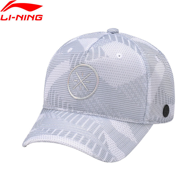 LiNing Breathable Men Wade Lifestyle Baseball Cap 100% Polyester 56-60 cm LiNing Comfort Adjustable Sports Caps Hat AMYN057 Q054 35colors silver gold soild india scarf cap warmer ear caps yoga hedging headwrap men and women beanies multicolor fold hat 1pc