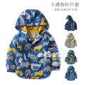 2015 Осень ребенок ребенок с капюшоном ветрозащитный куртка дети верхняя одежда куртка тонкий Куртка Малыш Водонепроницаемый Мальчик Пальто