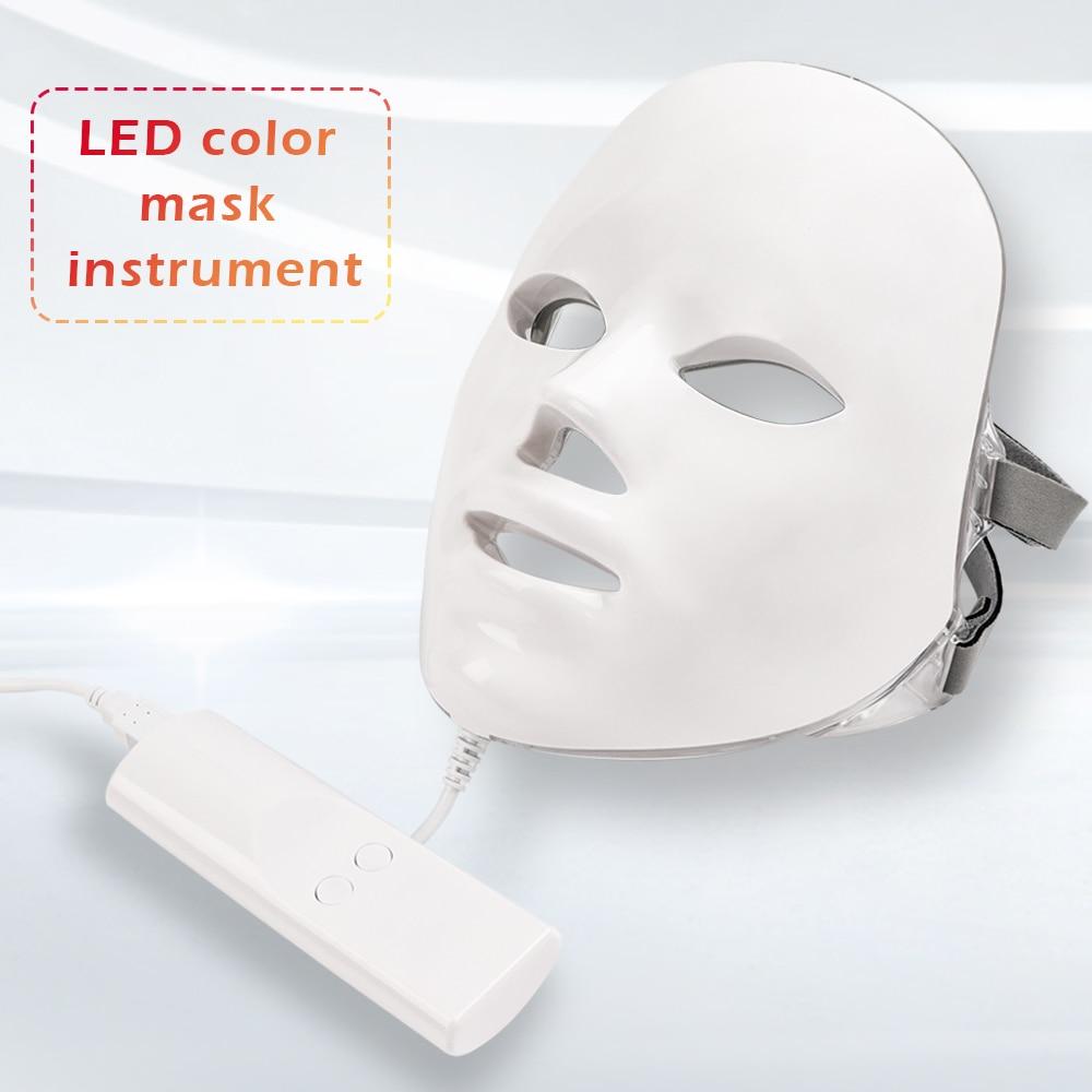 Nouveau 7 couleurs Led masque Facial Led coréen Photon thérapie visage masque Machine luminothérapie acné beauté masque masque Led confortable