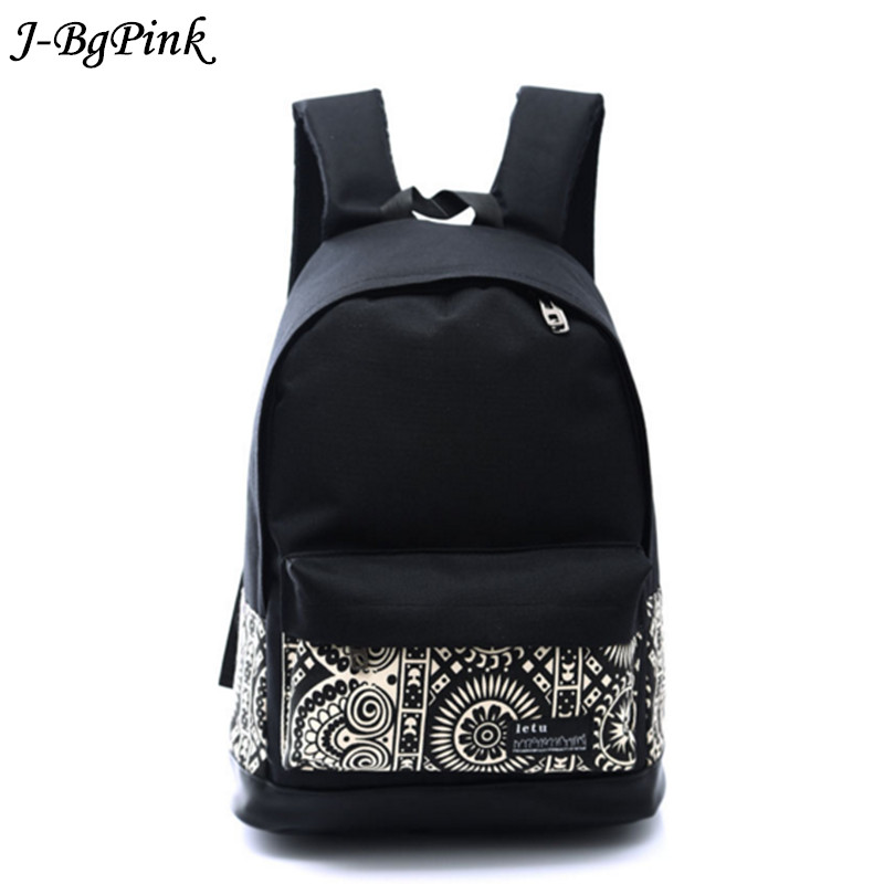 Fashion star national wind print backpack black primary school bag teenage girl little backpack lady canvas Mochila Escolar new sweet little fresh little lady backpack fashion kids mini school bag ly1813