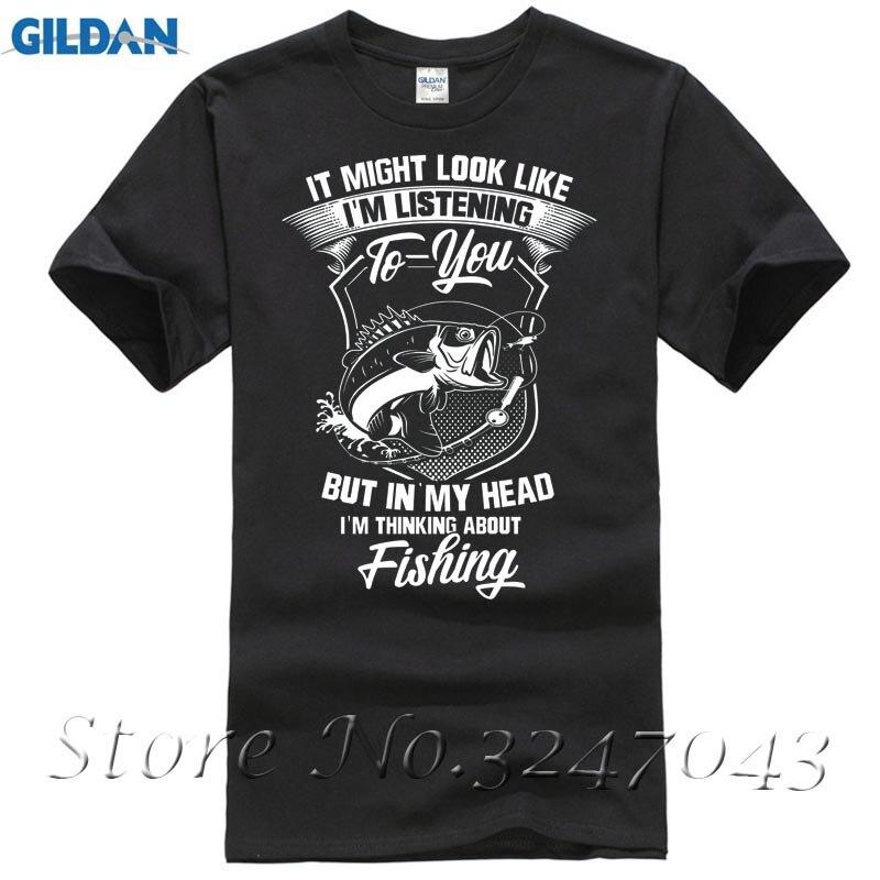 Regarde Comme Je suis à L'écoute, Mais Je Songe à Fishinger Mens T-Shirt Mode Hommes T Shirts Col Rond