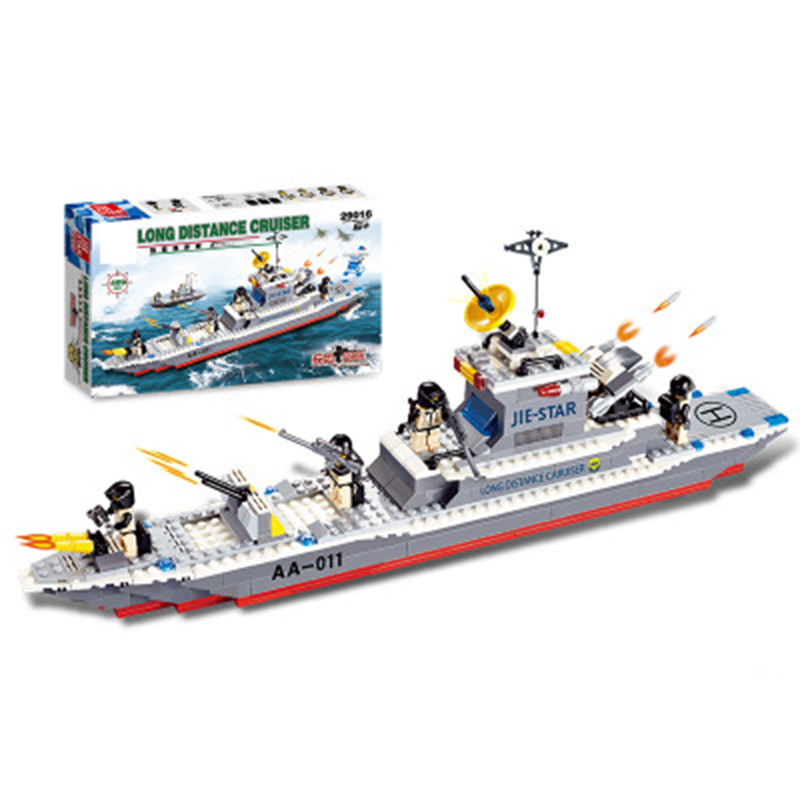 381pcs DIY Military Model Blocks Cruiser building blocks compatible with Legoe Friends Educational toys War Series Bricks Set decool 3114 city creator 3in1 vehicle transporter building block 264pcs diy educational toys for children compatible legoe