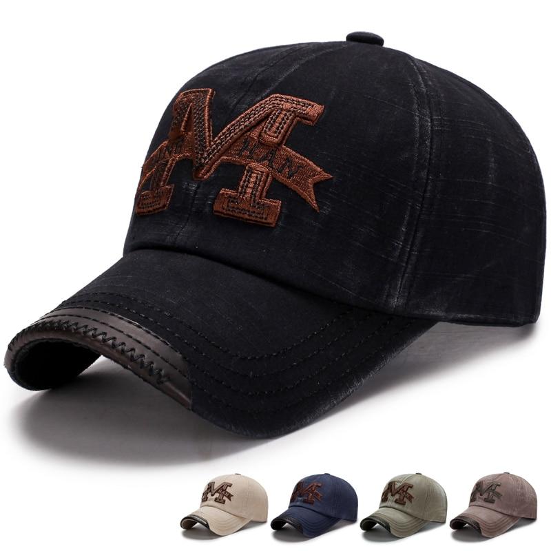 100% Cotton Brand Mens   Baseball     Caps   Embroidery Letter M Dad Hat Casquette Women Snapback   Caps   Bone Hats Sun Hat Gorras   Caps