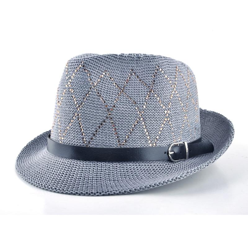 2018 Fashion hats for women Unisex Leisure cap Panama straw caps beach Breathable hat chapeu feminino sun hats for men 2