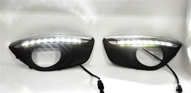 2Pcs/Pair LED Lights DRL Daytime Running Light Auto Lamp 2010-2012 For Hyundai Santa Fe With Dimmer Function a pair daytime running light drl with for lamp cover for smart fortwo 2008 2010