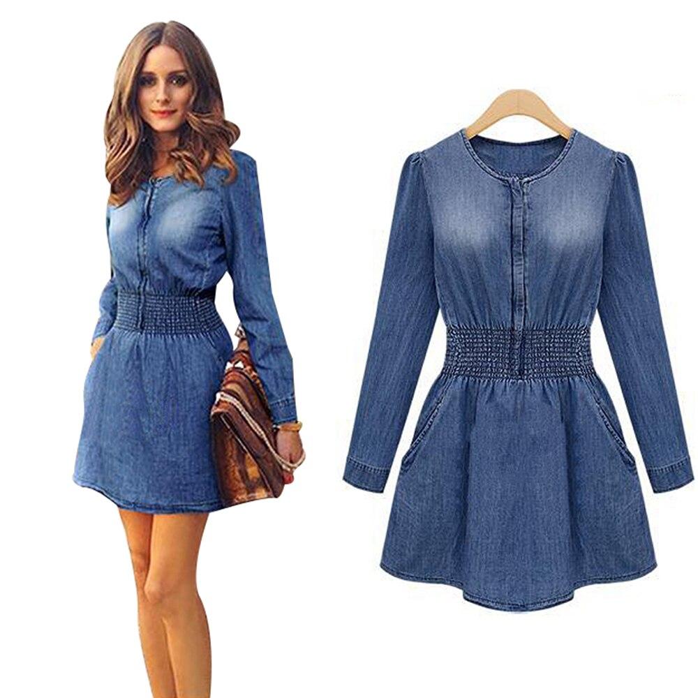 Платья из джинсы женская