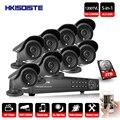 HKIXDISTE Video Überwachung System 8CH CCTV Security Kit 8 stücke 1200TVL Dome Sicherheit Kamera Nachtsicht 8CH 1080 p CCTV DVR-in Überwachungssystem aus Sicherheit und Schutz bei