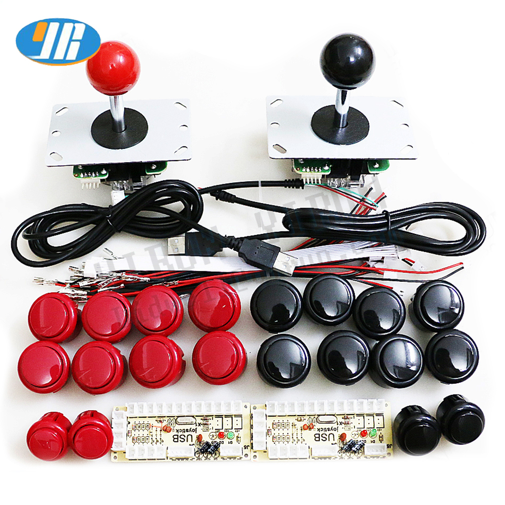 Arcade Joystick DIY Kit Zero Delay Arcade DIY Kit USB Encoder To PC Arcade Sanwa Joystick + Sanwa Push Buttons For Arcade Mame