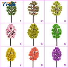 Teraysun 6cm-10cm miniature colorful  scale tree model color trees Train Model Scale Color Trees for design